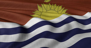 Kiribati-Flagge, die in der leichten Brise flattert Stockfoto