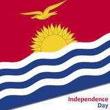 Kiribati independence day. With flag vector illustration for web Royalty Free Stock Photography
