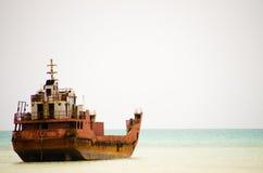 Kiribati schipbreuk stock foto