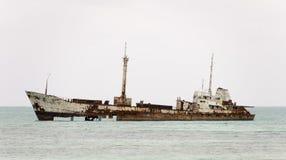 Kiribati schipbreuk royalty-vrije stock foto's