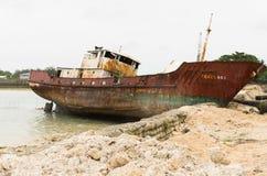 Kiribati schipbreuk royalty-vrije stock foto