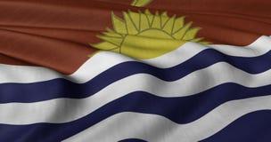 Kiribati vlag die in lichte wind fladderen stock foto