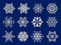 Kirigami blanc de flocons de neige Photographie stock libre de droits