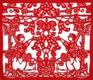 Kirigami tradizionale cinese Fotografia Stock