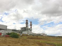 Kirikkale Natural Gas Combined Cycle Plant, Yahsihan.Power plant is a 950MW plant being construct Royalty Free Stock Image