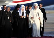 KIRIL, patriarcha MOSKWA I WSZYSTKIE ROSJA wizyty RUMUNIA, Obrazy Royalty Free