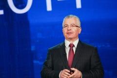 Kirill Tatarinov à la convergence de Microsoft photos stock