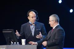 Kirill Tatarinov på Microsoft konvergens royaltyfria foton