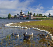 Kirillo-Belozerskii monastery. Old monastery in Kirillov, Russia Royalty Free Stock Photography