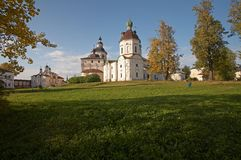 Kirillo-Belozerskij Kloster. Stockfoto