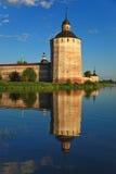 Kirillo-Belozersky Kloster, Kontrollturm Lizenzfreies Stockfoto