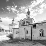 Kirillo-Belozersky monastery. The male monastery of the Vologda Diocese of the Russian Orthodox Church. Kirillo-Belozersky monastery. Monastery of the Russian royalty free stock photos