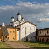 Kirillo-Belozersky monastery. The male monastery of the Vologda Diocese of the Russian Orthodox Church. Kirillo-Belozersky monastery. Monastery of the Russian stock photo