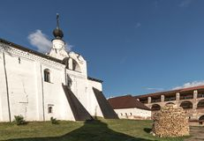 Kirillo-Belozersky monastery. The male monastery of the Vologda Diocese of the Russian Orthodox Church. Kirillo-Belozersky monastery. Monastery of the Russian royalty free stock photo