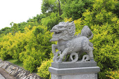 Kirin sculpture Royalty Free Stock Image