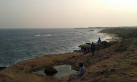 Kirinda strand Arkivbild