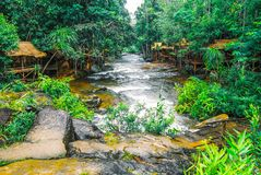 Kirirom National Park located in Kompong spue province Kingdom of Cambodia the beautiful waterfall and mountain. The destination was a favourite during the Royalty Free Stock Image
