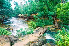 Kirirom National Park located in Kompong spue province Kingdom of Cambodia the beautiful waterfall and mountain Stock Images
