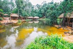 Kirirom park narodowy lokalizować w Kompong spue gubernialny królestwo Kambodża piękna góra i siklawa Obraz Stock