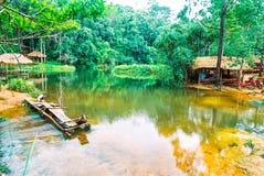 Kirirom park narodowy lokalizować w Kompong spue gubernialny królestwo Kambodża piękna góra i siklawa Zdjęcia Stock