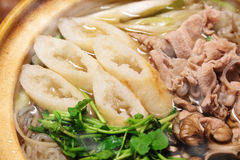 Kiritanpo-nabe, hotchpotch with rice bars Stock Photo