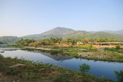 Kiriwong village, Attractions with good weather at Nakhonsritammarat, Thailand. Beuatiful place Royalty Free Stock Images