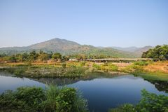 Kiriwong village, Attractions with good weather at Nakhonsritammarat, Thailand. Beuatiful place Stock Image