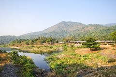 Kiriwong village, Attractions with good weather at Nakhonsritammarat, Thailand. Beuatiful place Stock Photo
