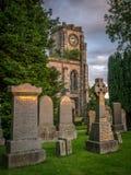 Kirk alto do cemitério de Campsie, Lennoxtown fotos de stock royalty free