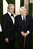 Kirk Douglas, Michael Douglas, Vanity Fair Stock Photo