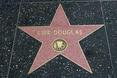 Kirk Douglas-Stern auf dem Hollywood-Weg des Ruhmes lizenzfreies stockfoto