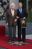 Kirk Douglas, Zubin Mehta stockfoto
