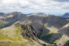Kirk Fell de Scafell Pike images stock