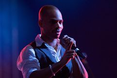 Kirk Franklin. Live in Warsaw Royalty Free Stock Image