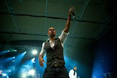 Kirk Franklin. Live in Warsaw Royalty Free Stock Photos