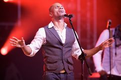 Kirk Franklin. Live in Warsaw Stock Image