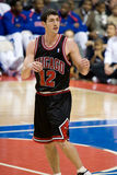 Kirk Hinrich Of The Chicago Bulls. Kirk Hinrich waits for the ball during a game  between the Detroit Pistons and the Chicago Bulls at the The Palace Of Auburn Royalty Free Stock Photos