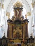 Kirk Sankt Michaelis Hamburg Arkivfoton