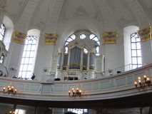 Kirk Sankt Michaelis Hamburg Royaltyfri Bild