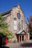 Kirk van Canongate, Koninklijke Mijl, Edinburgh Stock Fotografie