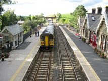 Kirkby Stephen Railway Station, Cumbria, Angleterre images stock