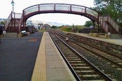 Kirkby Stephen Railway Station Southbound plattform arkivbilder