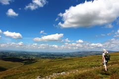 Kirkby Stephen from west side Nine Standards Rigg Royalty Free Stock Photography
