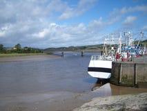 Kirkcudbright schronienie i most fotografia stock