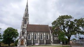 Kirke engelske вертепа Англиканской церкви ` s St Alban также известное как английская церковь, Копенгаген, Дания Стоковая Фотография