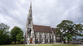 Kirke engelske вертепа Англиканской церкви ` s St Alban также известное как английская церковь, Копенгаген, Дания Стоковое фото RF