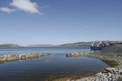 Kirkenes перенесите корабли Стоковые Фото