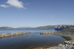 Kirkenes. Ships in port. Stock Photos