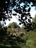 Kirkham Priory z naprzeciw Derwent, Yorkshire Zdjęcia Stock