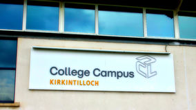 Kirkintilloch : Campus d'université Image stock